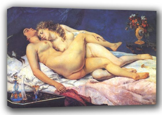 Courbet, Gustave: Sleep (Le Sommeil), 1866. Fine Art Canvas. Sizes: A3/A2/A1 (001049)